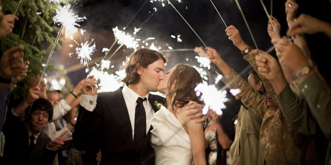Leave Your Wedding Reception With A Sparkler Finish