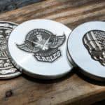 laser engraved coins